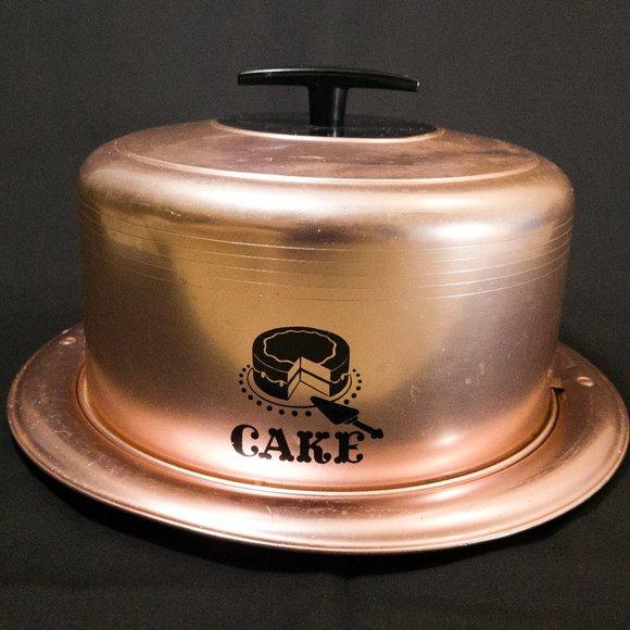 Vintage West Bend Cake Carrier in Rose